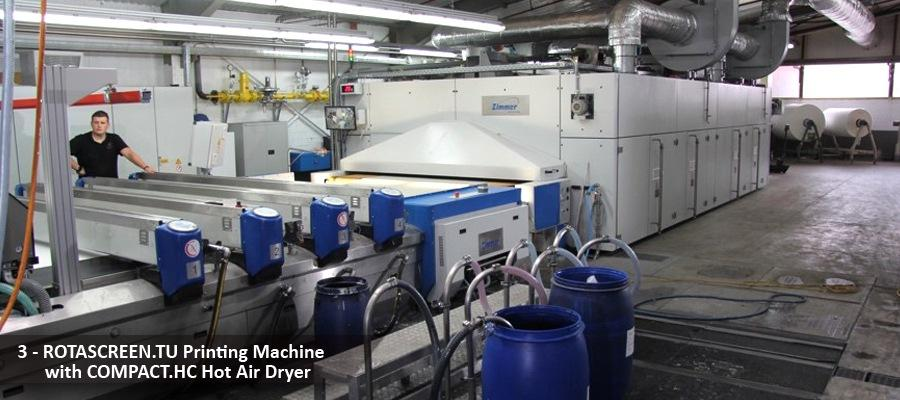 ROTASCREEN.TU Printing Machine with COMPACT.HC Hot Air Dryer by VAN CLEWE